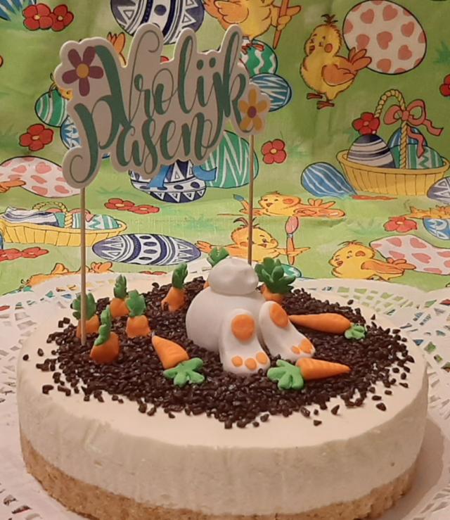 Vrolijk Pasen!! Mijn eerste fondant taart